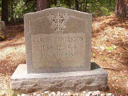 HENDERSON, CLAUDE - Columbia County, Arkansas | CLAUDE HENDERSON - Arkansas Gravestone Photos