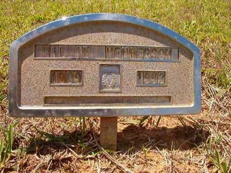 HENDERSON, WILLIE - Columbia County, Arkansas | WILLIE HENDERSON - Arkansas Gravestone Photos