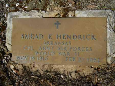 HENDRICK (VETERAN WWII), SMEAD E - Columbia County, Arkansas | SMEAD E HENDRICK (VETERAN WWII) - Arkansas Gravestone Photos