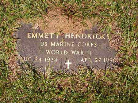 HENDRICKS (VETERAN WWII), EMMETT - Columbia County, Arkansas | EMMETT HENDRICKS (VETERAN WWII) - Arkansas Gravestone Photos