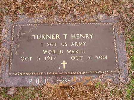HENRY (VETERAN WWII, POW), TURNER T - Columbia County, Arkansas | TURNER T HENRY (VETERAN WWII, POW) - Arkansas Gravestone Photos