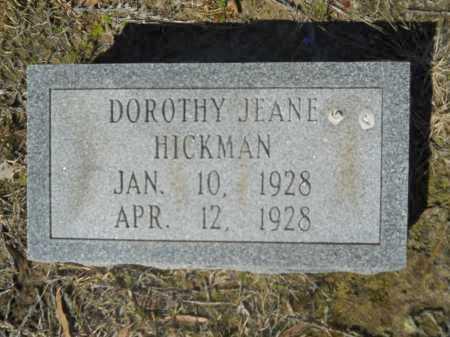 HICKMAN, DOROTHY JEANE - Columbia County, Arkansas | DOROTHY JEANE HICKMAN - Arkansas Gravestone Photos
