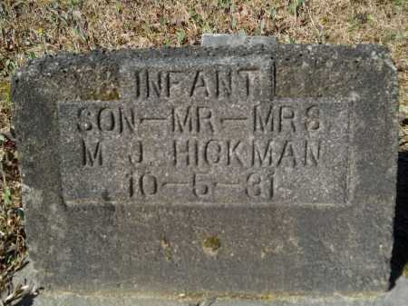 HICKMAN, INFANT - Columbia County, Arkansas | INFANT HICKMAN - Arkansas Gravestone Photos