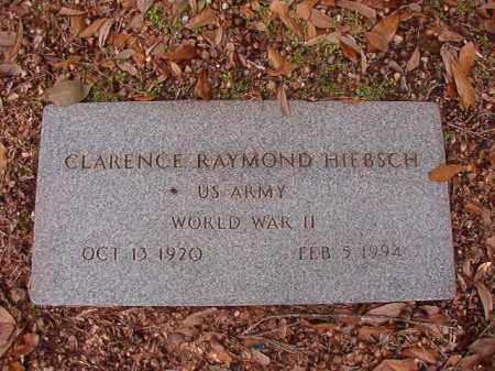 HIEBSCH (VETERAN WWII), CLARENCE RAYMOND - Columbia County, Arkansas | CLARENCE RAYMOND HIEBSCH (VETERAN WWII) - Arkansas Gravestone Photos