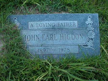 HIGDON, JOHN EARL - Columbia County, Arkansas | JOHN EARL HIGDON - Arkansas Gravestone Photos