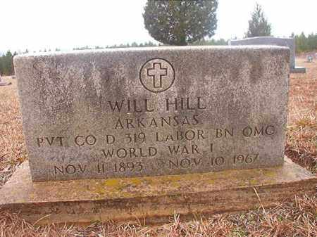 HILL (VETERAN WWI), WILL - Columbia County, Arkansas | WILL HILL (VETERAN WWI) - Arkansas Gravestone Photos