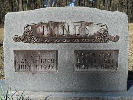 HINES, J S - Columbia County, Arkansas | J S HINES - Arkansas Gravestone Photos
