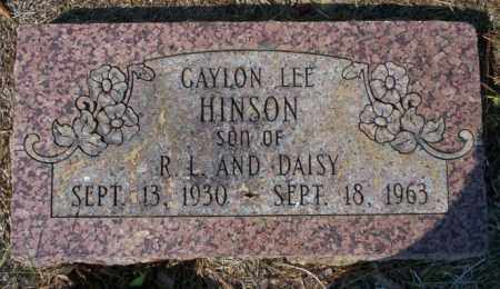 HINSON, GAYLON LEE - Columbia County, Arkansas | GAYLON LEE HINSON - Arkansas Gravestone Photos
