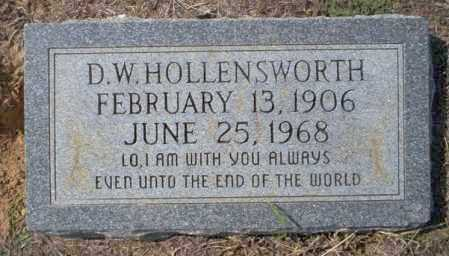 HOLLENSWORTH, D.W. - Columbia County, Arkansas | D.W. HOLLENSWORTH - Arkansas Gravestone Photos