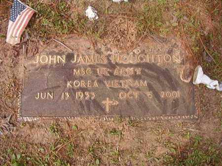 HOUGHTON (VETERAN 2 WARS), JOHN JAMES - Columbia County, Arkansas | JOHN JAMES HOUGHTON (VETERAN 2 WARS) - Arkansas Gravestone Photos