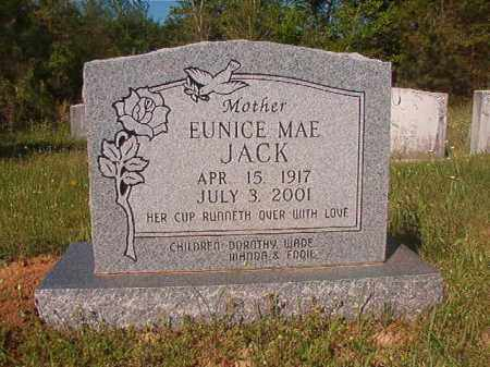 JACK, EUNICE MAE - Columbia County, Arkansas | EUNICE MAE JACK - Arkansas Gravestone Photos