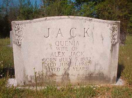 JACK, QUENIA - Columbia County, Arkansas | QUENIA JACK - Arkansas Gravestone Photos
