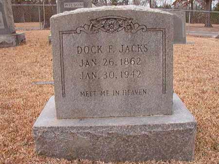 JACKS, DOCK F - Columbia County, Arkansas   DOCK F JACKS - Arkansas Gravestone Photos