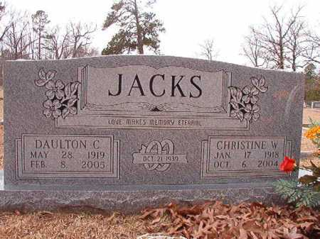 JACKS, CHRISTINE W - Columbia County, Arkansas | CHRISTINE W JACKS - Arkansas Gravestone Photos
