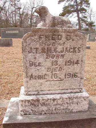 JACKS, FRED D - Columbia County, Arkansas | FRED D JACKS - Arkansas Gravestone Photos