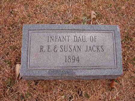 JACKS, INFANT DAUGHTER - Columbia County, Arkansas | INFANT DAUGHTER JACKS - Arkansas Gravestone Photos