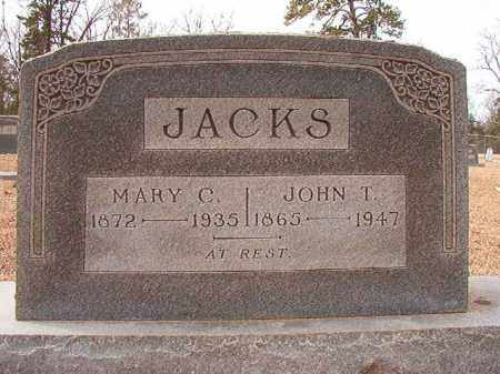 JACKS, JOHN T - Columbia County, Arkansas | JOHN T JACKS - Arkansas Gravestone Photos