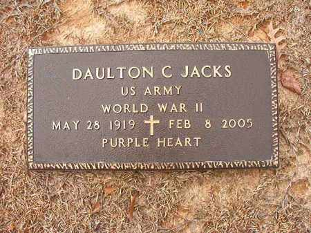 JACKS (VETERAN WWII), DAULTON C - Columbia County, Arkansas | DAULTON C JACKS (VETERAN WWII) - Arkansas Gravestone Photos