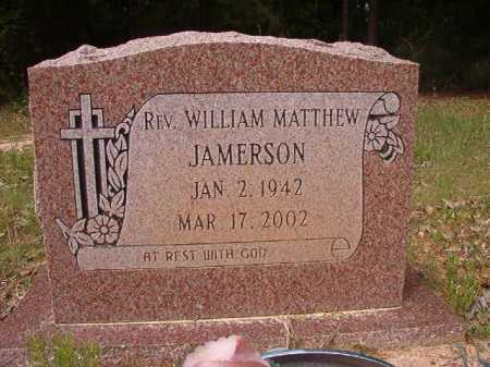 JAMERSON, REV, WILLIAM MATTHEW - Columbia County, Arkansas | WILLIAM MATTHEW JAMERSON, REV - Arkansas Gravestone Photos