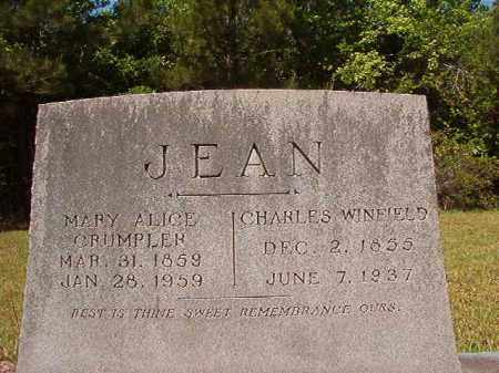 JEAN, CHARLES WINFIELD - Columbia County, Arkansas | CHARLES WINFIELD JEAN - Arkansas Gravestone Photos