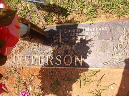 JEFFERSON, LORENE MADEAR - Columbia County, Arkansas | LORENE MADEAR JEFFERSON - Arkansas Gravestone Photos