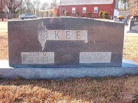 KEE, DAVE M - Columbia County, Arkansas | DAVE M KEE - Arkansas Gravestone Photos