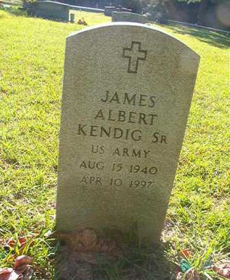 KENDIG, SR (VETERAN), JAMES ALBERT - Columbia County, Arkansas | JAMES ALBERT KENDIG, SR (VETERAN) - Arkansas Gravestone Photos