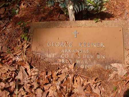KENNER (VETERAN WWI), GEORGE - Columbia County, Arkansas | GEORGE KENNER (VETERAN WWI) - Arkansas Gravestone Photos