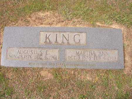 KING, AUGUSTUS E - Columbia County, Arkansas | AUGUSTUS E KING - Arkansas Gravestone Photos