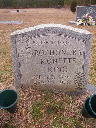 KING, ROSHONDRA MONETTE - Columbia County, Arkansas | ROSHONDRA MONETTE KING - Arkansas Gravestone Photos