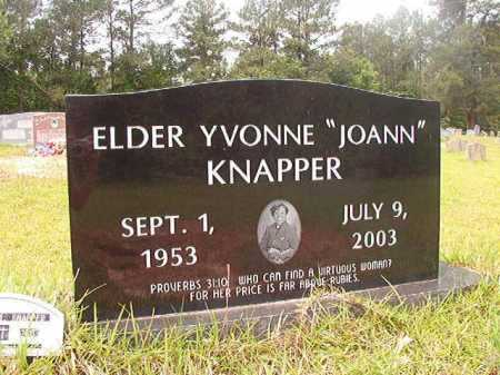 "KNAPPER, ELDER, YVONNE ""JOANN"" - Columbia County, Arkansas 