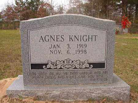 KNIGHT, AGNES - Columbia County, Arkansas | AGNES KNIGHT - Arkansas Gravestone Photos