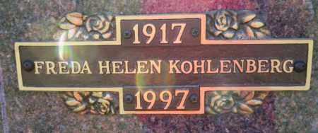 KOHLENBERG, FREDA HELEN - Columbia County, Arkansas | FREDA HELEN KOHLENBERG - Arkansas Gravestone Photos