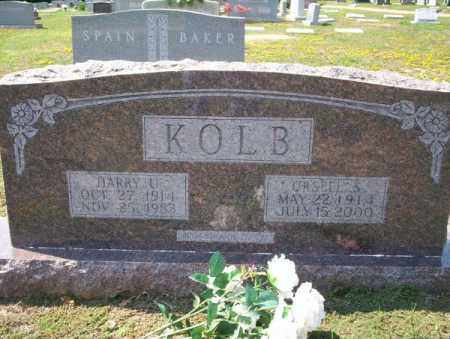 KOLB, URSELL S - Columbia County, Arkansas | URSELL S KOLB - Arkansas Gravestone Photos