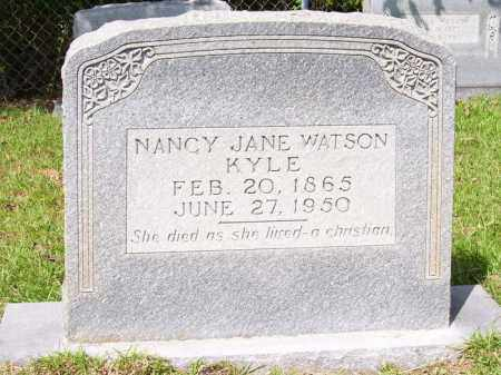 WATSON KYLE, NANCY JANE - Columbia County, Arkansas | NANCY JANE WATSON KYLE - Arkansas Gravestone Photos