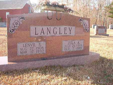LANGLEY, LENVIL S - Columbia County, Arkansas | LENVIL S LANGLEY - Arkansas Gravestone Photos