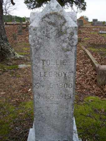 LECROY, TOLLIE - Columbia County, Arkansas | TOLLIE LECROY - Arkansas Gravestone Photos