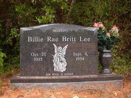BRITT LEE, BILLIE RAE - Columbia County, Arkansas | BILLIE RAE BRITT LEE - Arkansas Gravestone Photos