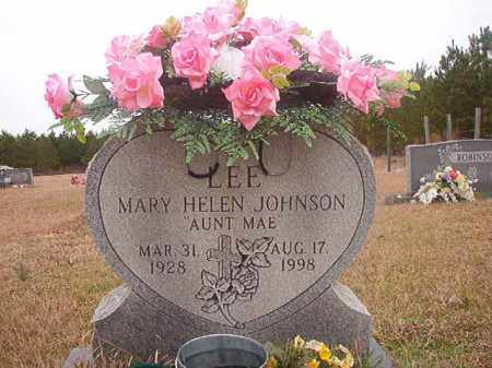 JOHNSON LEE, MARY HELEN - Columbia County, Arkansas | MARY HELEN JOHNSON LEE - Arkansas Gravestone Photos