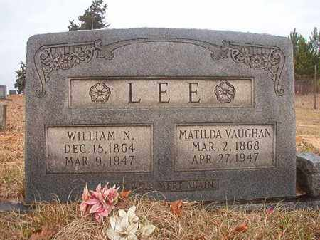 VAUGHAN LEE, MATILDA - Columbia County, Arkansas | MATILDA VAUGHAN LEE - Arkansas Gravestone Photos