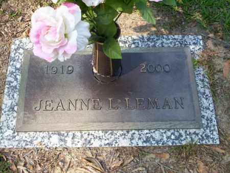 LEMAN, JEANNE L - Columbia County, Arkansas | JEANNE L LEMAN - Arkansas Gravestone Photos
