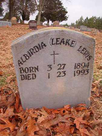 LEAKE LEWIS, ALBIRDIA - Columbia County, Arkansas | ALBIRDIA LEAKE LEWIS - Arkansas Gravestone Photos