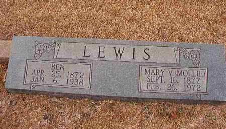 LEWIS, MARY V (MOLLIE) - Columbia County, Arkansas | MARY V (MOLLIE) LEWIS - Arkansas Gravestone Photos
