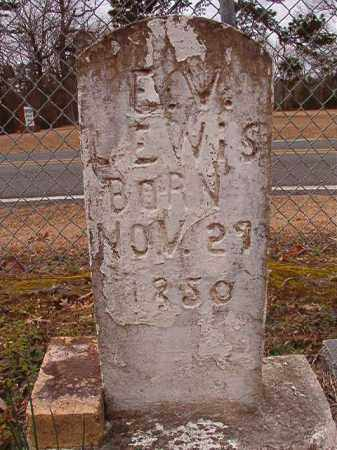 LEWIS, E V - Columbia County, Arkansas | E V LEWIS - Arkansas Gravestone Photos