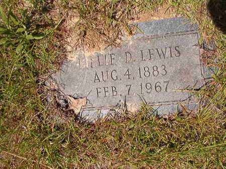 LEWIS, LILLIE D - Columbia County, Arkansas | LILLIE D LEWIS - Arkansas Gravestone Photos