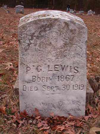 LEWIS, P G - Columbia County, Arkansas | P G LEWIS - Arkansas Gravestone Photos