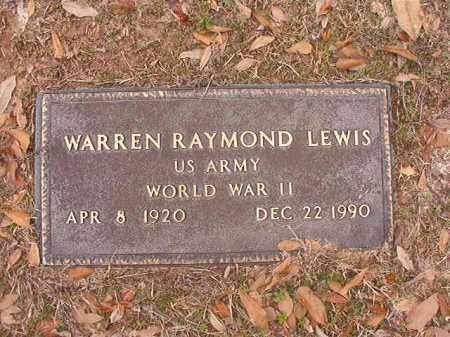 LEWIS (VETERAN WWII), WARREN RAYMOND - Columbia County, Arkansas | WARREN RAYMOND LEWIS (VETERAN WWII) - Arkansas Gravestone Photos