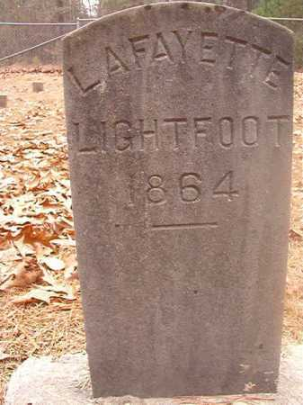 LIGHTFOOT, LAFAYETTE - Columbia County, Arkansas | LAFAYETTE LIGHTFOOT - Arkansas Gravestone Photos