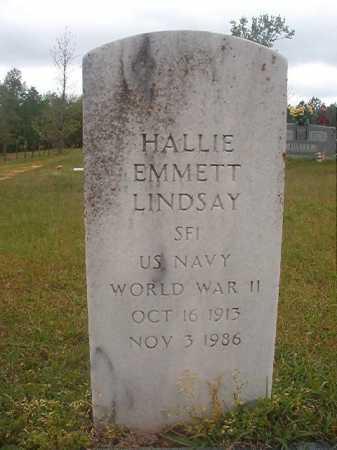 LINDSAY (VETERAN WWII), HALLIE EMMETT - Columbia County, Arkansas | HALLIE EMMETT LINDSAY (VETERAN WWII) - Arkansas Gravestone Photos