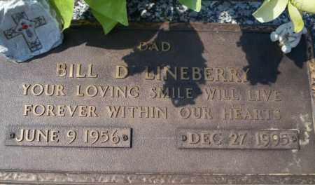 LINEBERRY, BILL D - Columbia County, Arkansas | BILL D LINEBERRY - Arkansas Gravestone Photos